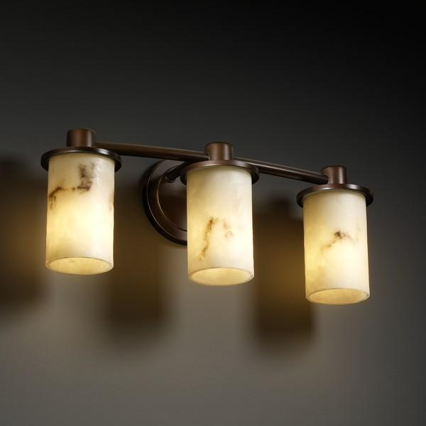 Rondo 3-Light Bath Bar : FAL-8513-10-NCKL   Caravelle Lighting Inc.